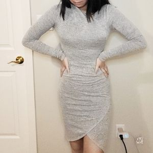 Wilfred Free Grey Long Sleeve Body Con Dress